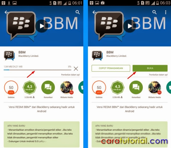 Install BBM di Android
