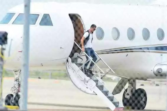 photo Cristiano Ronaldo private jet