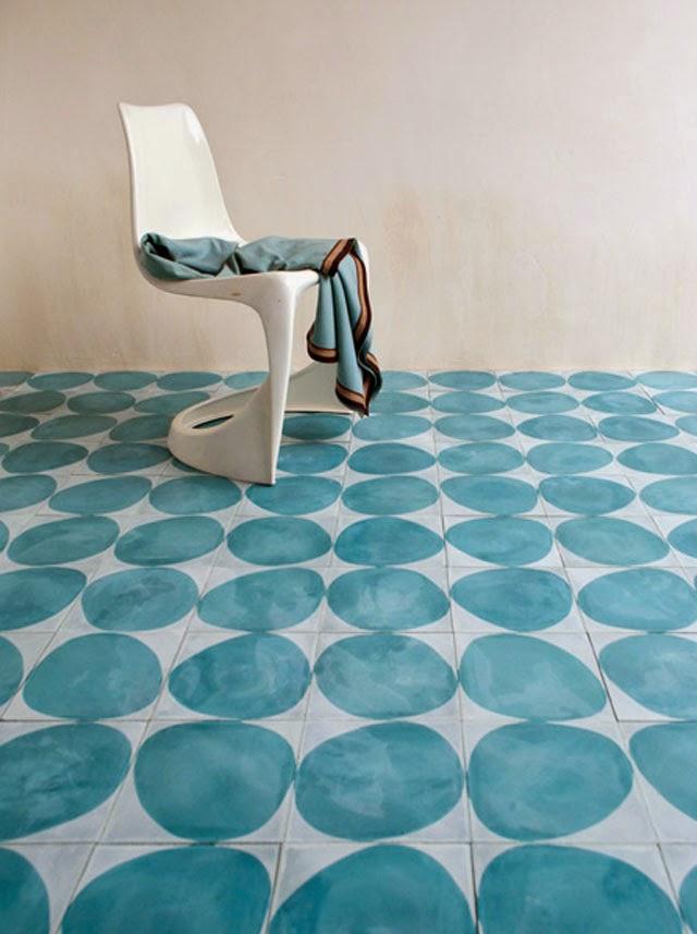 Minimalist Tile Floor Designs circle