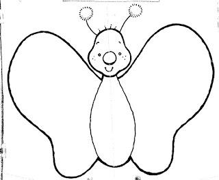dibujo de mariposa para colorear