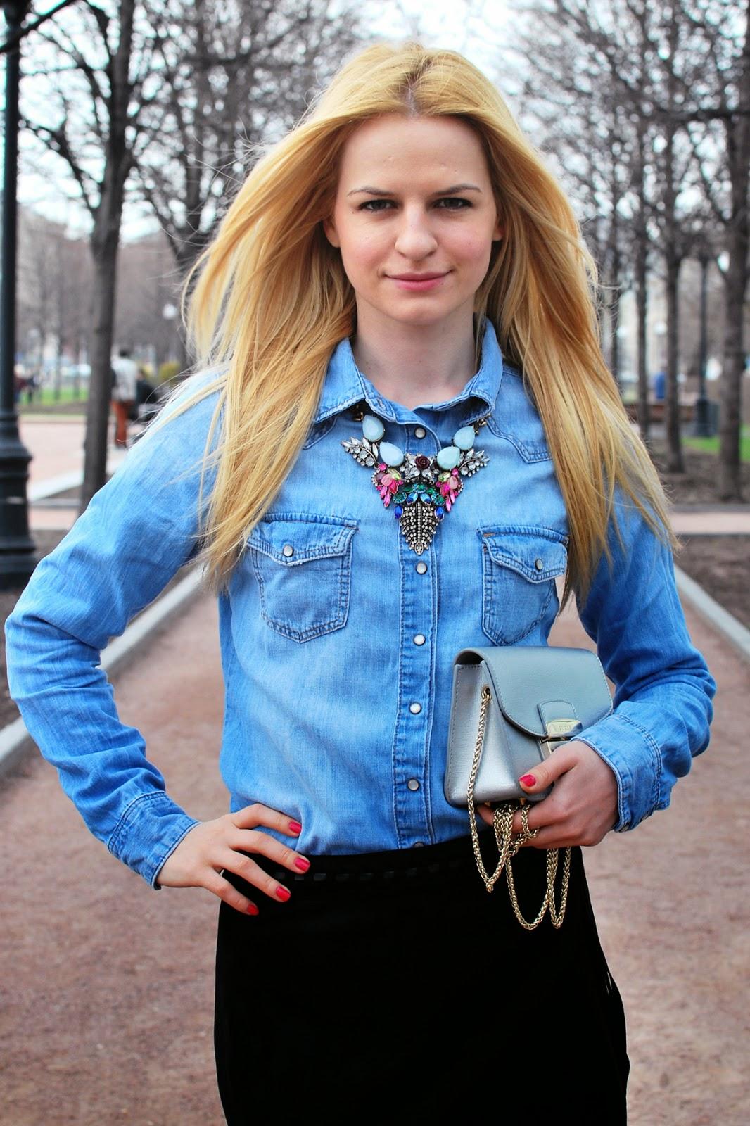модыне образ, уличная мода, с чем носить юбку с бахромой,с чем носить джинсовую рубашку