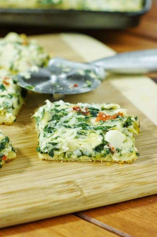 Spinach and Artichoke Dip Party Squares   www.thekitchenismyplayground.com