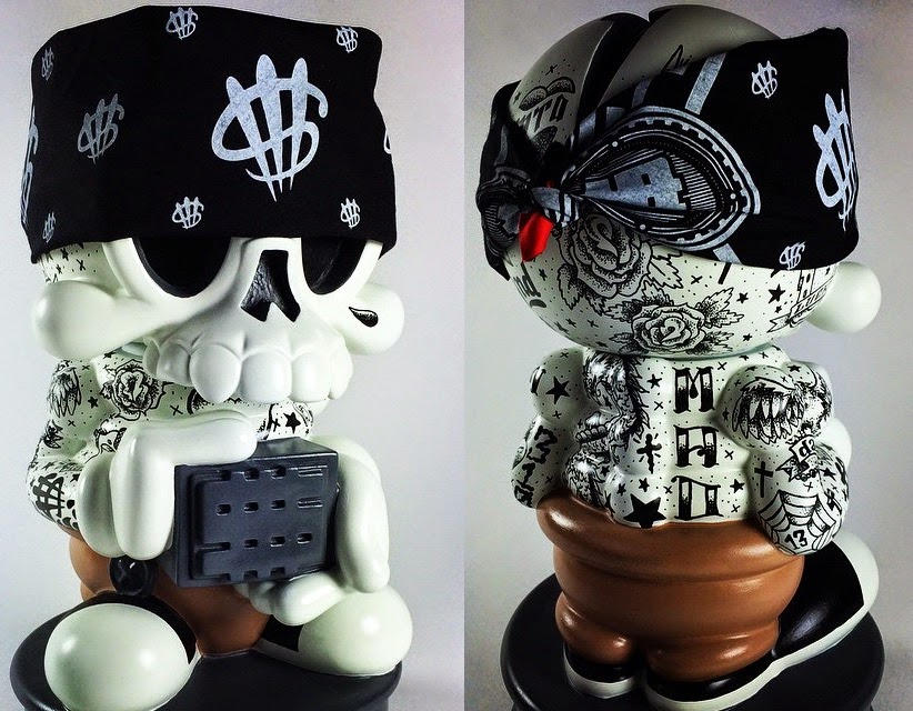 Designer Con 2014 Exclusive Skin Deep Modern Hero Custom Vinyl Bank by MAD