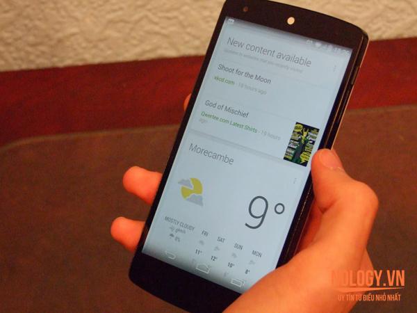 LG Vu 3 và Google Nexus 5.