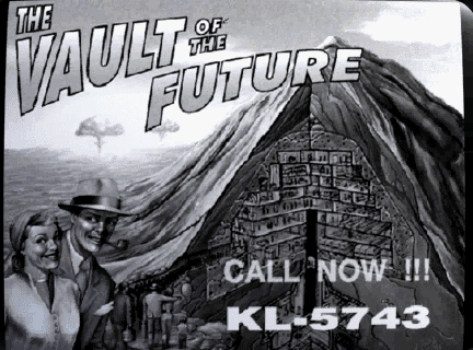 Fallout 1 intro Vault of the Future advert
