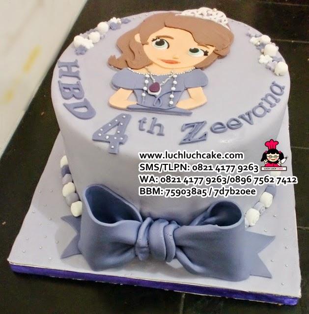 birthday cake The First Fondant 2D Daerah Surabaya - Sidoarjo