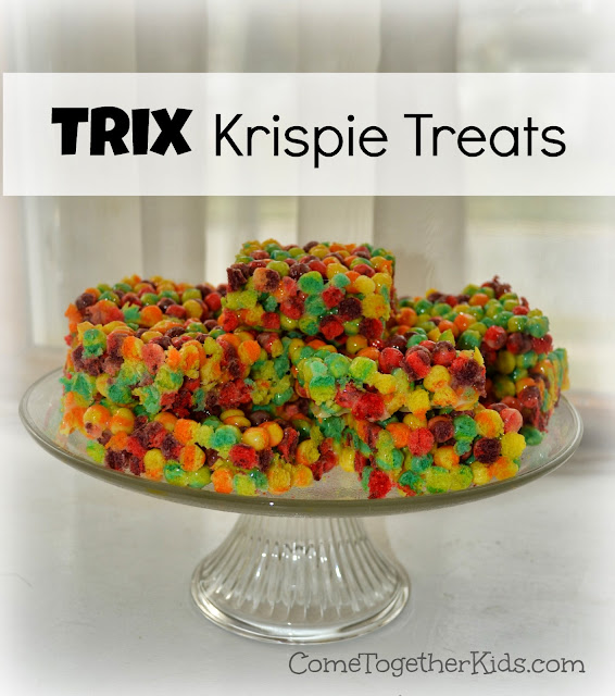 Krispie Treats made with Trix - so fun and colorful