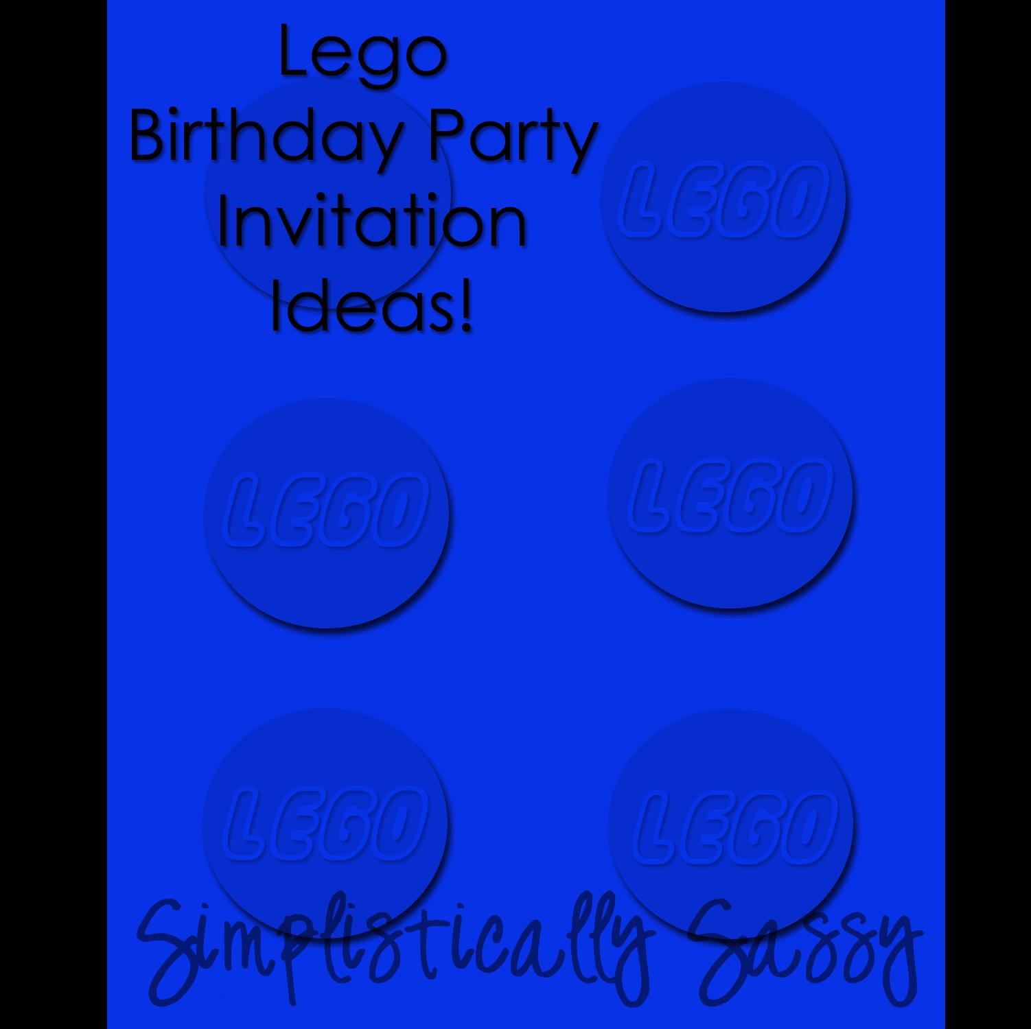 Lego Birthday Party - Simplistically Sassy