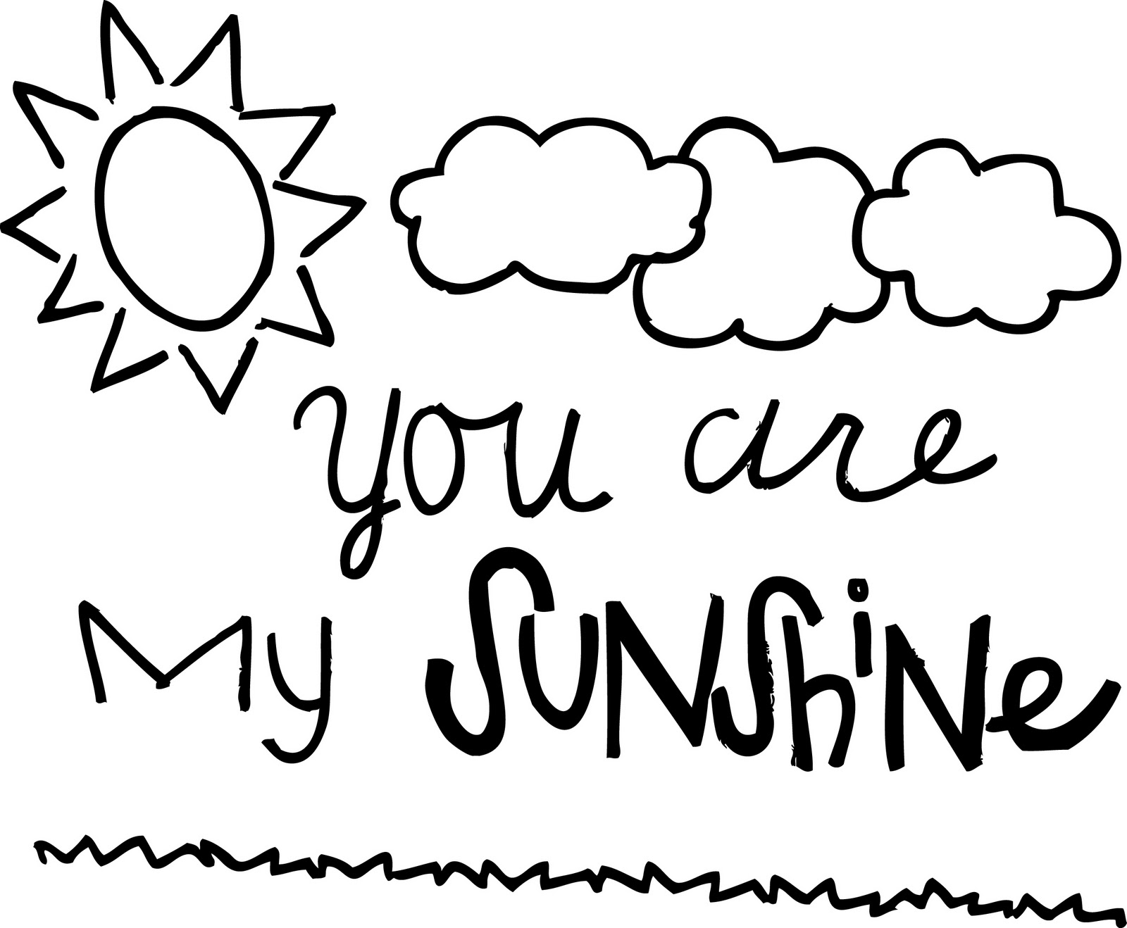 coloring pages of sunshine - the gallery for you are my sunshine coloring pages