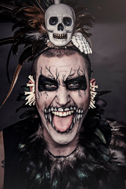 Halloween, witch doctor, voodoo, tribal, skull, spooky, horror, scary photo, photography, halloween photography, day of the dead, mardi gras, New Orleans, bones, feathers, Mystic Magic,
