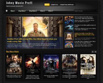 Johny Movie Prett Blogger Template