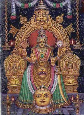 Photos of Goddess Mookambika for Navaratri Festival 2011