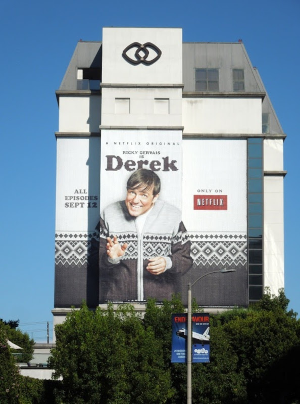 Giant Ricky Gervais Derek billboard Los Angeles