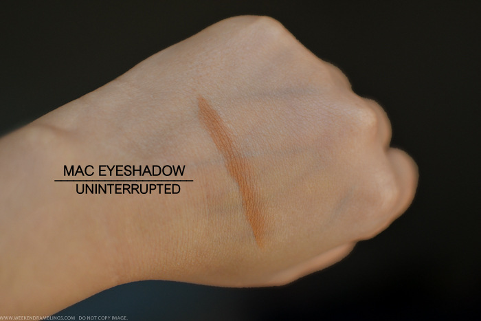 MAC Uninterrupted Eyeshadow Prolongwear Swatch Review Photos Makeup Looks Indian Beauty Blog