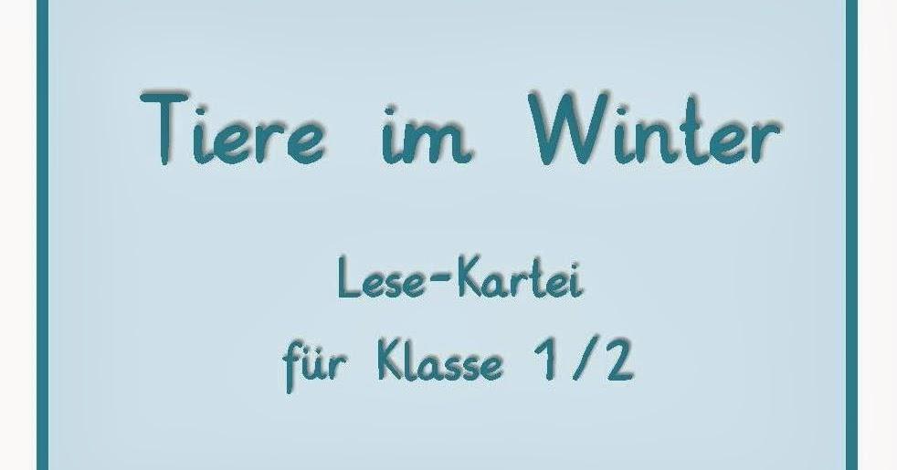 Reif fu00fcr die Ferien: Tiere im Winter - Lesekartei