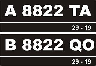 Daftar Kode Plat Nomor Kendaraan Seluruh Indonesia