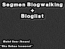 Senarai Pemenang Segmen Blogwalking + Bloglist