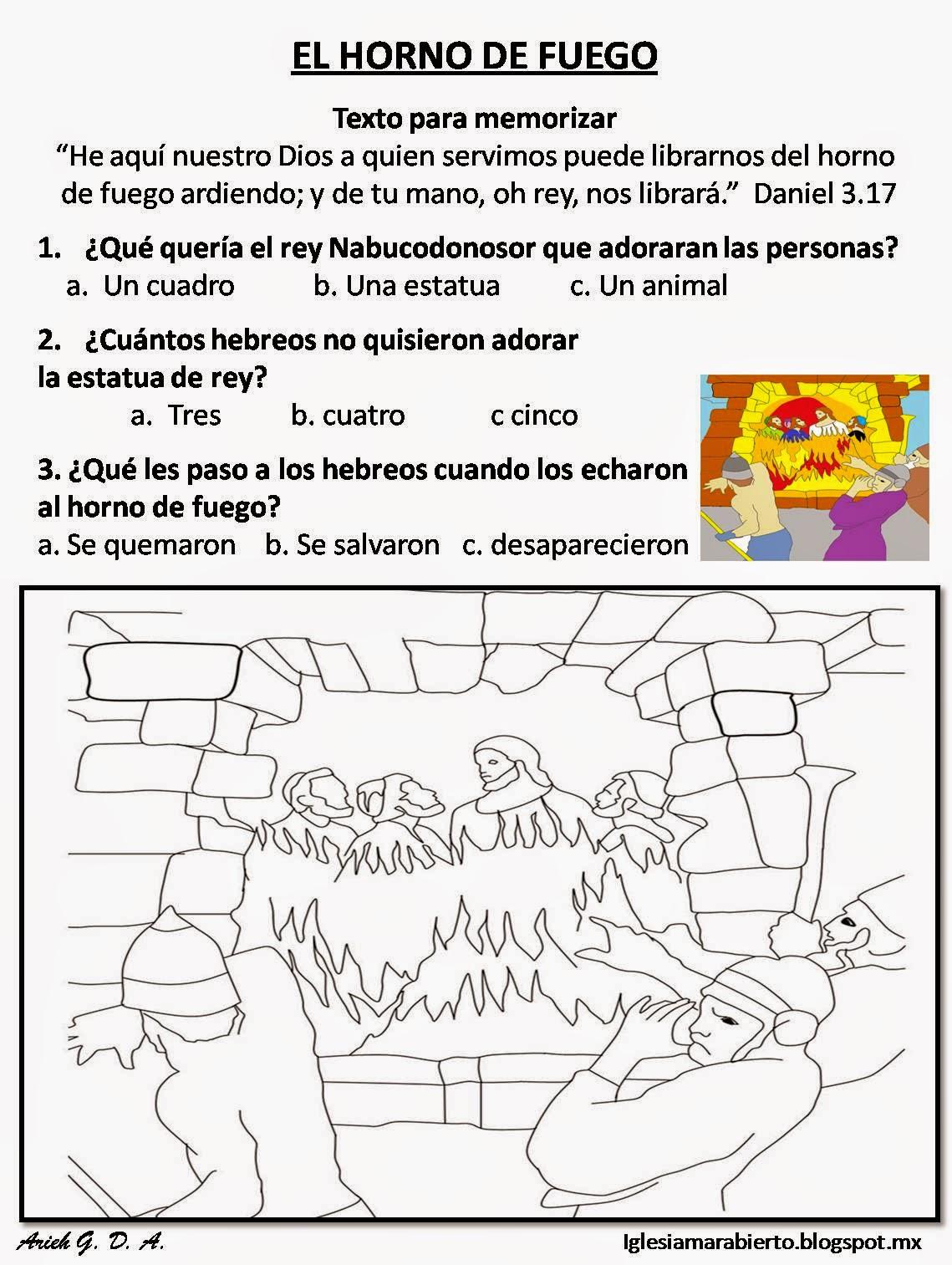IGLESIA MAR ABIERTO: Clase para niños cristianos EL HORNO ...