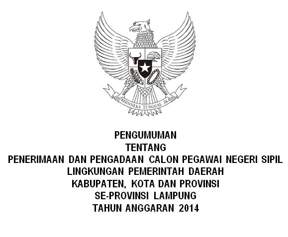 List Penerimaan CPNS SeProvinsi Lampung