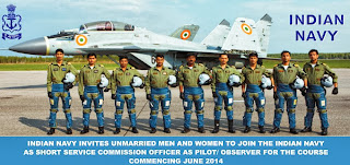 Indian Navy Pilot / Observer Recruitment 2013-14 (www.nausena-bharti.nic.in)