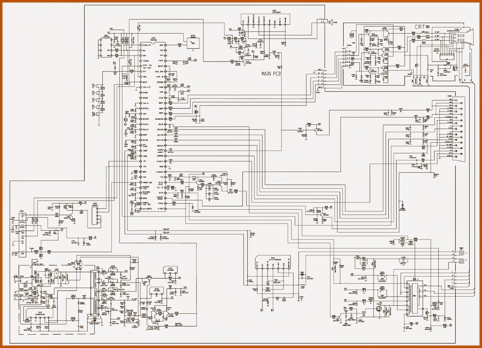 Color Tv Circuit Diagram