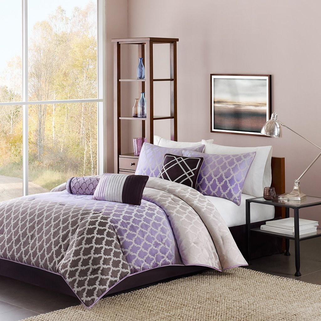 Bedroom Colours Photos Bedroom Entrance Bedroom Lighting Wayfair Bedroom Sitting Area: Purple Black And White Bedding Sets: Drama Uplifted