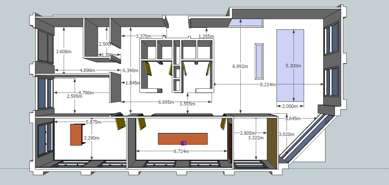 Planos de oficinas pequenas of planos de oficinas con medidas for Planos de oficinas pequenas