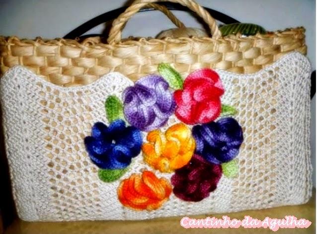 croche com receita bolsas palha flores aprender croche dvd loja curso de croche edinir-croche