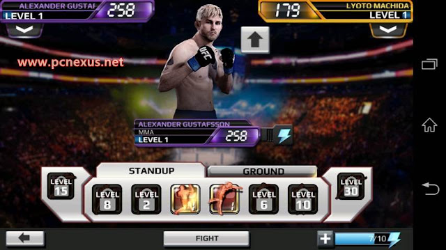 ea ufc level select