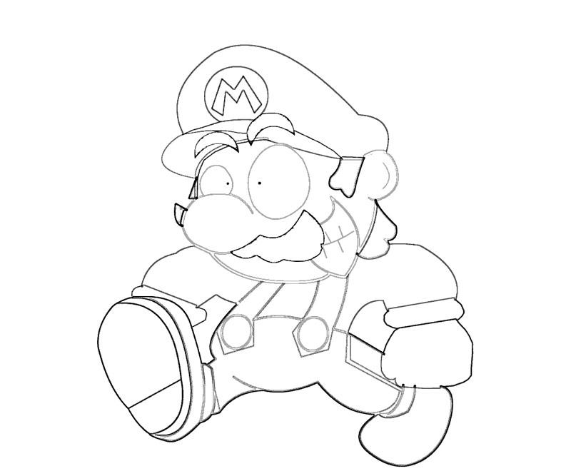 #11 Super Mario Coloring Page