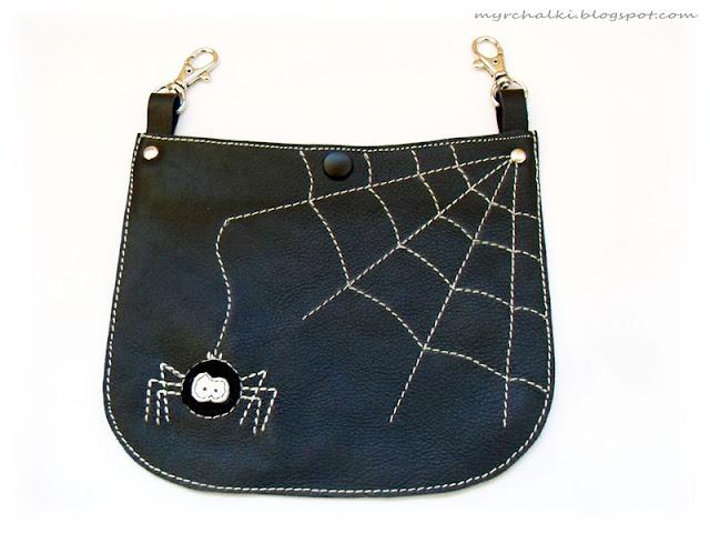 сумка на пояс из кожи
