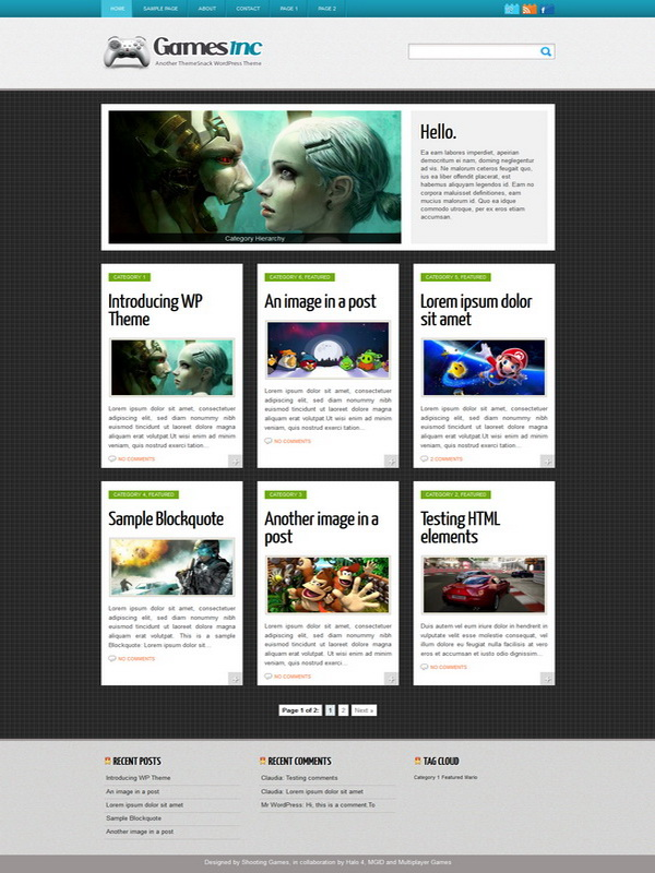 Games Inc WordPress Theme