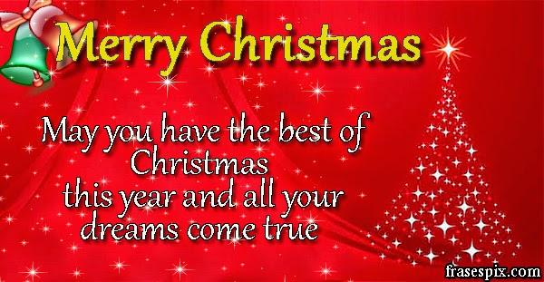 Imgenes Frases Pix Tarjetas de Navidad con frases en ingles para