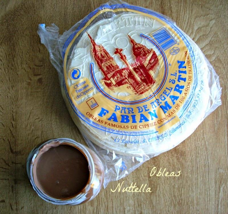 Tarta de Nutella y Obleas {sabor huesitos}....