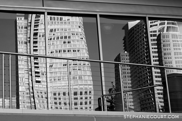 building reflections in downtown san francisco
