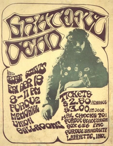 April 18, 1969 Purdue Poster