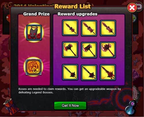 Ninja Saga Valentine Event 2014 Reward