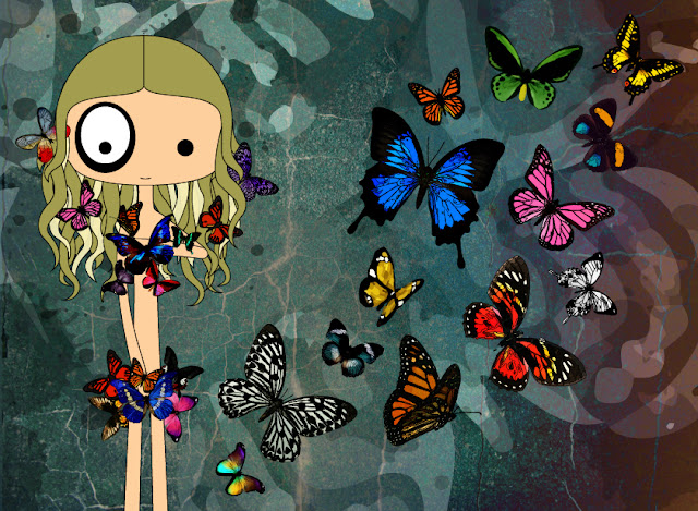 ilustración foltys vs the butterflies (100% handmade with ♥)