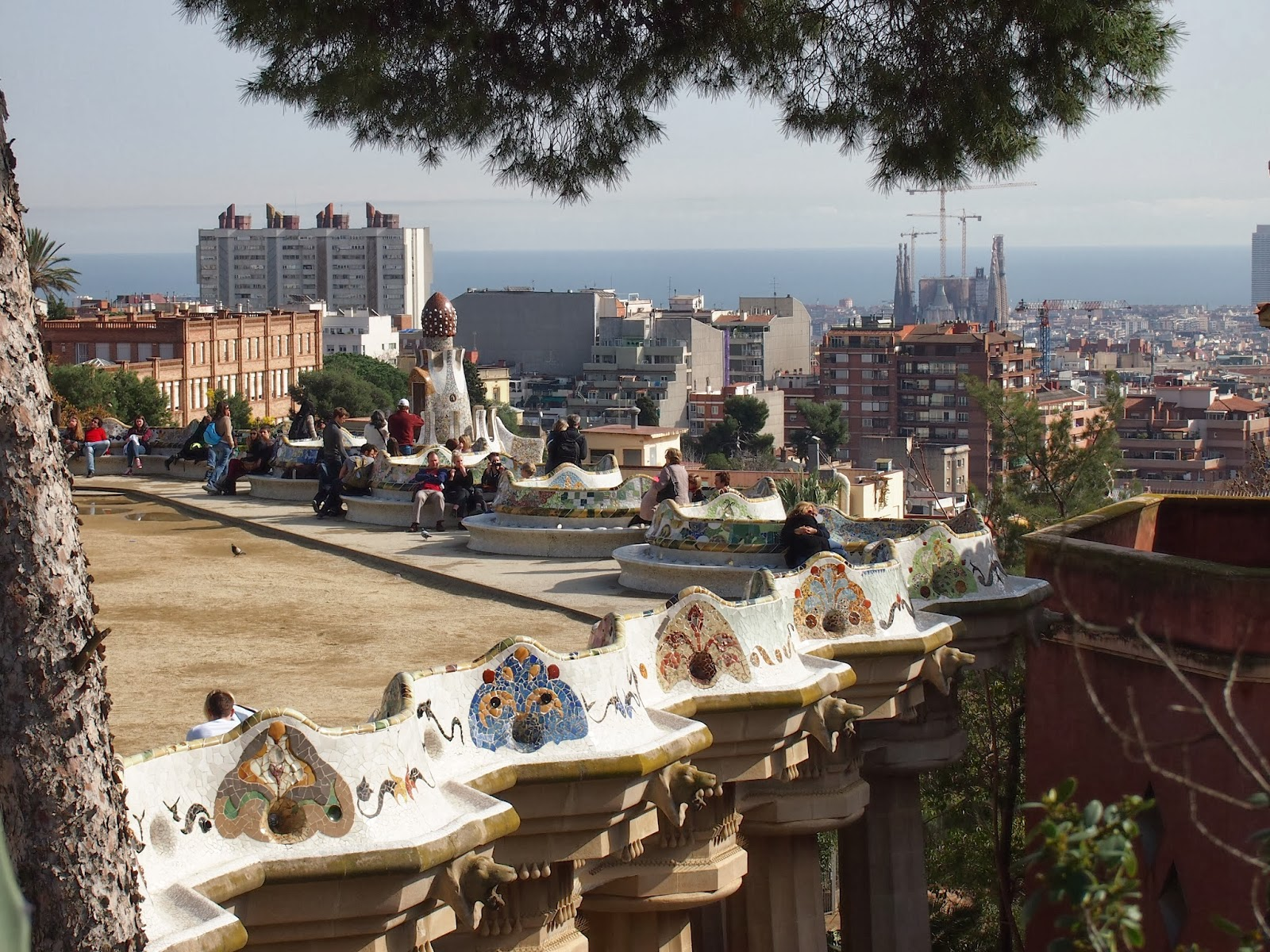 View from the upper portion of park guell