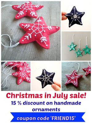 15% off handmade ornaments by MadameRenard