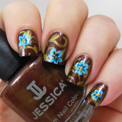 flower nail art over Jessica Fudge