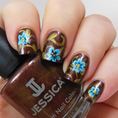 flower nail art over Jessica Fudge