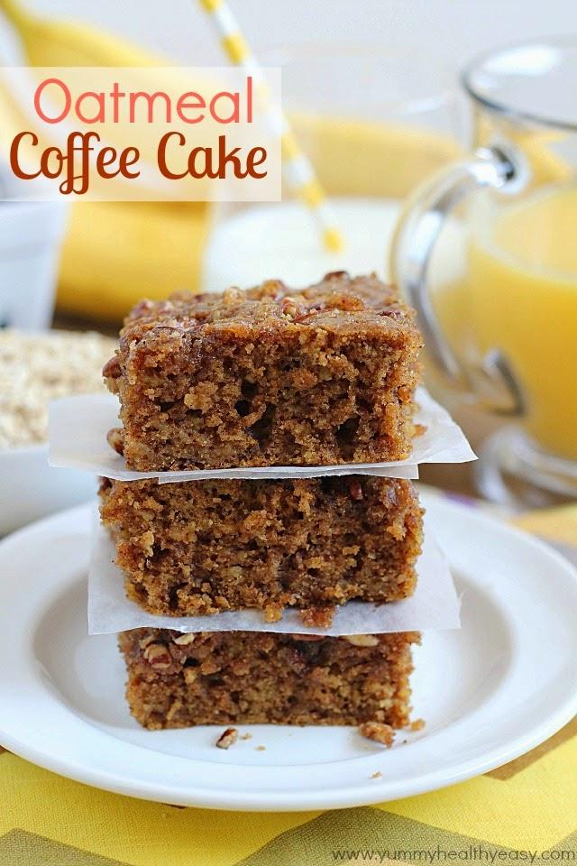 Oatmeal Walnut Caramel Coffee Cake