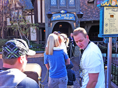 Peter Pan's Flight Disneyland entrance long line popular ride