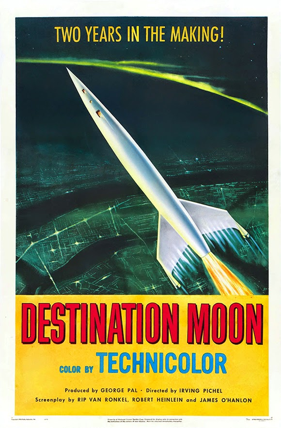 Destination Moon - Sci Fi Movie Vintage Poster