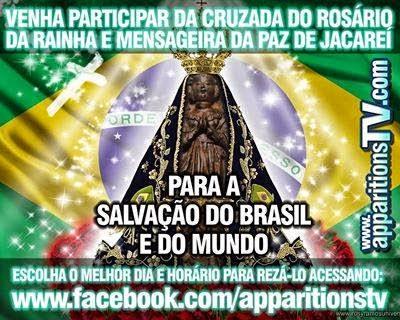 venha participar da cruzada do rozário da rainha e mensageira da paz de Jacareí