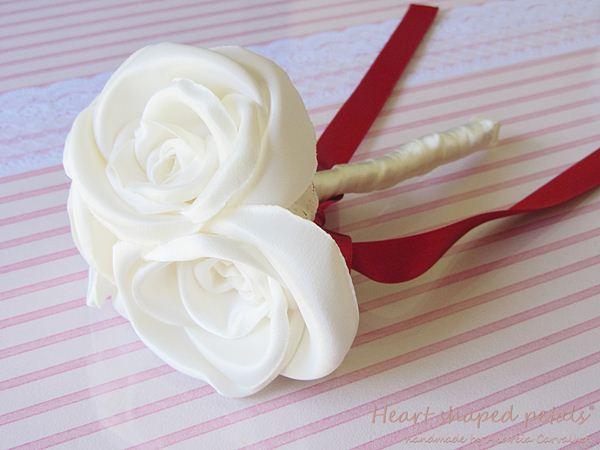 fabric rose toss bouquet