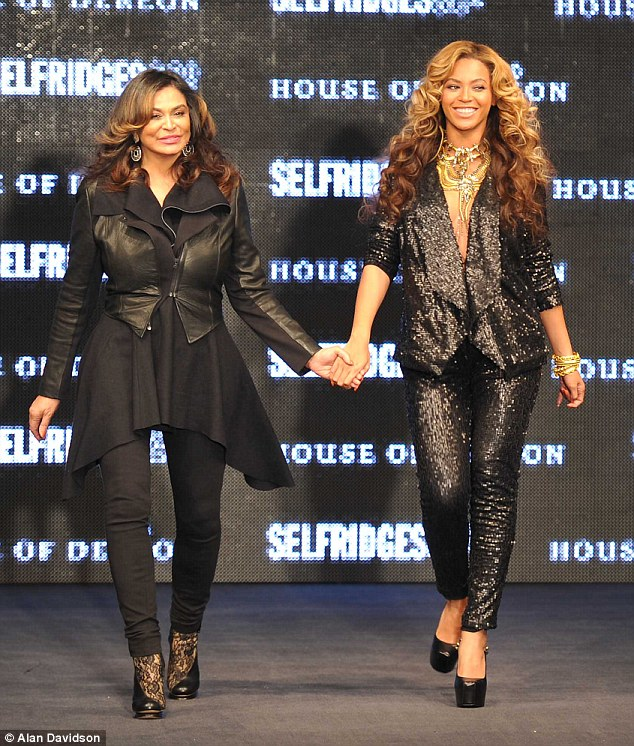 Beyonce with mother tina launches new fashion line at selfridges