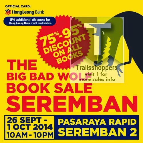 The Big Bad Wolf Books Sale offers pasaraya rapid seremban 2