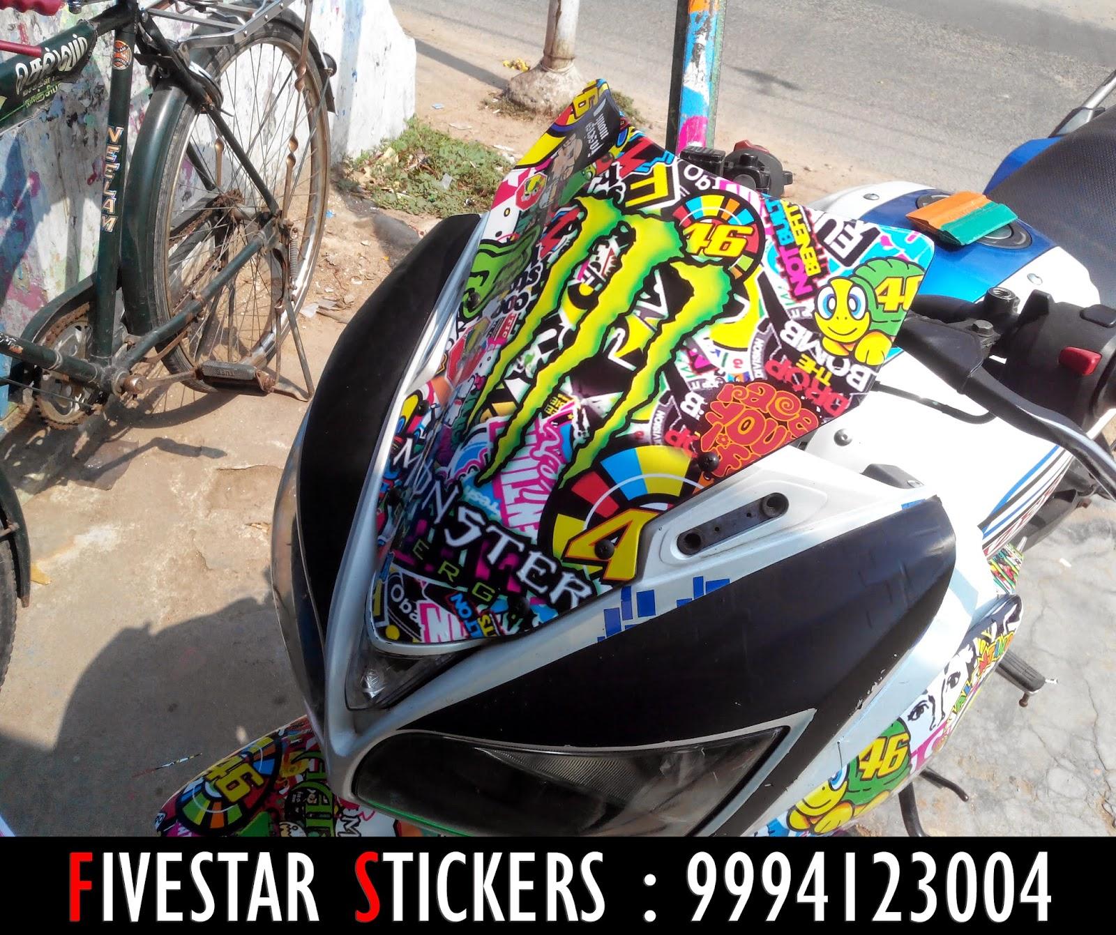 Yamaha bike sticker designs - Yamaha Fazer Sticker Bomb Wrapping